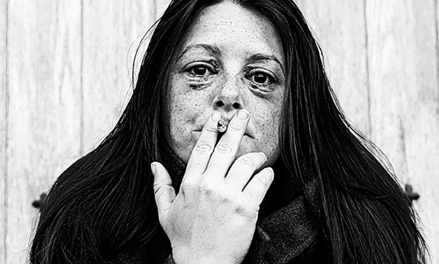 Malefícios do cigarro à visão.